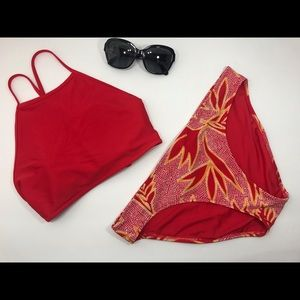 Aerie red bikini swim suit